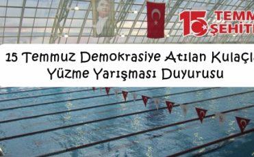 15 Temmuz Demokrasiye Atılan Kulaçlar Yüzme Yarışması